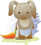 Grass,Animals And Pets,Easter,Carrot,Animal,Rabbit - Animal