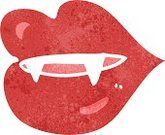 Cheerful,Drawing - Activity,Doodle,Bizarre,Clip Art,Rough,Ilustration,Fang,Vampire,Lipstick,Red,Cute,Human Lips