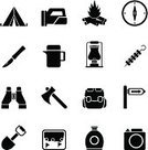Computer Icon,Symbol,Camping,Silhouette,Hiking,Compass,Metal Grate,Flame,Picnic,Natural Gas,Drink,Water,Axe,Technology,Binoculars,Bottle,Fire - Natural Phenomenon,Tent,Web Page,Internet,Menu,Lantern,Electric Lamp,Walking,Map,Spot Lit,Penknife,Set,Cafeteria,Food,Journey,Oil,Spit,Navigational Equipment,Backpack,Shovel,Lens - Optical Instrument,Photograph,Insulated Drink Container,Travel,Vector,Interface Icons,Sign,Tourism,Fireplace,Camera - Photographic Equipment,Table Knife,Vacations,Blackboard