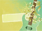 Guitar,Music,Banner,1940-1980 Retro-Styled Imagery,Backgrounds,Swirl,Retro Revival,Single Flower,Flower,Grunge,Dirty,Psychedelic Music,Modern Rock,Floral Pattern,Arts Backgrounds,Illustrations And Vector Art,Arts And Entertainment