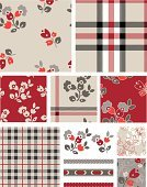 Plaid,Textile,Pattern,Interior Designer,Red,Checked,Seamless,Flower,Ilustration,Backgrounds,Wallpaper Pattern,Wallpaper,Repetition,Abstract,Filling,Material,Fashion,Vector,Ribbon,Textured Effect,Decor,Fabric Swatch,Gray,Frame,Rope,At The Edge Of,Fringe,Floral Pattern