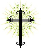 Cross,Cross Shape,Crucifix,Ornate,Christianity,Flower,Vector,Wrought Iron,Growth,Floral Pattern,Religion,Plant,Freshness,Silhouette,Botany,holy cross,Elegance,Ilustration,Illustrations And Vector Art,Religion,Concepts And Ideas,Beauty In Nature,Symbols Of Peace,Nature