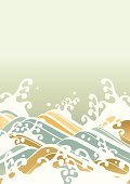 Waving,Wave Pattern,Wave,Japanese Ethnicity,Japan,Japanese Culture,Asia,Kimono,Design,Summer,Pattern,Ilustration,Water,Chinese New Year,New Year,Nature,Painted Image,New Year's Eve,New Year's Day,Japanese Painting,Backgrounds,Sky,Surf,Blue,Sea,Beach