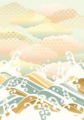 New Year's Day,Backgrounds,Sea,Beach,Wave Pattern,Pattern,Summer,Kimono,Design,Nature,New Year,Ilustration,Japan,Chinese New Year,Japanese Culture,Surf,Sky,Japanese Ethnicity,New Year's Eve,Painted Image,Blue,Wave,Asia,Water