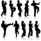 Karate,Vector,martial,Skill,Defending,Ilustration,Blocking,Tai,Punching,Silhouette,Human Foot,Aggression,Kimono,Isolated,Male,Real People,Chinese Culture,Practicing,Remote,Human Hand,Exercising,Kicking,Sport,Fist,Athlete,Belt,Japanese Culture,Conflict,Fighting,Cultures,People,One Person,Action,Boxing,Men,Physical Position