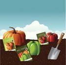 Dirt,Packet,Seed,Food And Drink,Vegetable Garden,Land,Vector,Trowel,Vegetable,Refreshment,Farm,Gardening,Healthy Lifestyle,Outdoors,blue sky,Clip Art,Autumn,Healthy Eating,Pumpkin,Pepper - Vegetable,Season,Freshness,Summer,Tomato,Ripe,Plant,Nature,Organic,Vegetarian Food,Vegan Food,Cloud - Sky,Close-up,Cloudscape,Gourmet,Dieting,Ilustration