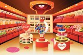 Supermarket,Cartoon,Chewing Gum,Candy,Aisle,Retail,Shelf,Freshness,Food,Chocolate,Market,Chocolate Candy,Vector,Clip Art,Drawing - Art Product,Ilustration,Modern,Groceries,Store,Sweet Food