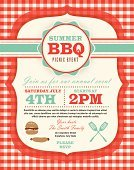 Barbecue,Picnic,Invitation,Summer,Family,Retro Revival,Food,Pattern,Vector,Checked,potluck,Tablecloth,Red,Party - Social Event,template,Celebration,Annual Event,Design,Meeting,Blue,Text,Eating,Event,Ilustration,Purple,Social Gathering,Vertical