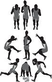 Clip Art,Sprinting,Adult,Muscular Build,Athlete,Arms Akimbo,Action,Kneeling,Isolated On White,Men,Jumping,Professional Sport,Ilustration,One Man Only,Motion,Computer Graphic,Sports Uniform,Speed,Side View,sports and fitness,White Background,Front View,Digitally Generated Image,Full Length,Sport,On The Move,Mid-Air,Male,One Person,Vertical,Vector,Running,Rear View,Bending,Track And Field,Silhouette,Vector Graphics,Sportsman,Sports Clothing,Competitive Sport,Sports Race,Shape