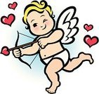 Cupid,Arrow,Bow,Wing,Love,Cherub,Characters,Curly Hair,Holiday,Valentine's Day - Holiday,Heart Shape,rosy cheeks,Cute,Baby,Overweight,Blond Hair,Happiness,Cheerful,Cartoon,Ilustration,Fun,Human Heart