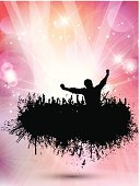 Women,Men,Disco Dancing,Little Boys,Youngsters,Splattered,Grunge,EPS 10,Dancing,Crowd,Vector,Party - Social Event,Abstract,People,Backgrounds,Celebration,Eps10,Silhouette,Spray