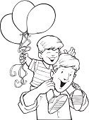 Men,Holding,Parent,People,Two People,Smiling,Father,Part Of,casual attire,Little Boys,Celebration,Child,Circus,Childhood,Adult