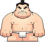 Sumo Wrestling,Japanese Culture,Japanese Ethnicity,Cartoon,People,One Person,Strength,Toughness,Wrestling,Men,Macho,Athlete,Displeased,Vector,Furious,Anger,Large,Muscular Build,Ilustration