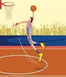 Action,Skill,Activity,Practicing,Aggression,Audience,Competition,Speed,Basketball Player,Basket,Vector,selectable,Ilustration,Playing,Men,People,Sport