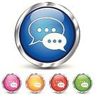 Internet,Vector,Symbol,Design,Silver - Metal,Chrome,Speech,Discussion,Green Color,Table Tennis,Icon Set,www,Circle,Silver Colored,Metal,Ilustration,Blog,Shiny,Computer,Orange Color,Chat Room,White,Reflection,Metallic,Isolated,Remote,Blue,Red