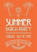 Beach Party,Vector,Beach,Poster,Summer,Discovery,White,Retro Revival,Ilustration,Classic,Orange Color,Sketch,Sea,Design Element,Typescript,Calligraphy,Placard,Banner,Ribbon,Decoration,Drawing - Art Product,Sun