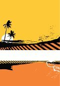 Beach,Poster,Hawaii Islands,Backgrounds,Paint,Tree,Grunge,Palm Tree,Vector,Summer,Box - Container,Big Island,Splattered,Computer Graphic,Yellow,Digitally Generated Image,Sun,Orange Color,Danger,Copy Space,Color Image,Design,Colors,Design Element,Part Of,Ilustration,No People