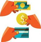 Credit Card,Commercial Activity,Currency,earnings,Paying,Investment,Exchanging,Coin,Banking,Wages,Ilustration,Ideas,Flat,Human Hand,payout,Buying,Business,Dollar,Finance,Concepts,Currency Exchange