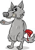 Wolf,Cartoon,Little Red Riding Hood,Cruel,Evil,Gray,Humor,Characters,Design,Clip Art,Vector,Bad Wolf,Drawing - Art Product,Fantasy,Mascot,Cheerful,Fun,Storytelling,Large,Fairy Tale,Ilustration,Rudeness,Animal