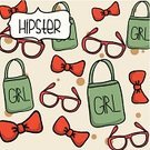 Bow Tie,Women,Bag,Retro Revival,Lifestyles,Eyeglasses,Symbol,Old,Hipster,Mustache,Vector,Ilustration,People,Computer Graphic,Design Element,Young Adult,Cultures,Style,Silhouette,Design,Fashion,Youth Culture