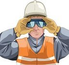 Construction Worker,Safety,Protective Eyewear,Human Head,Mining,Protective Glove,Occupation,Miner,Security,Working,Human Eye,Reflective Clothing,Industry,Manual Worker,Shadow,Gray,Adult,Eyeglasses,Front View,Hardhat,People,Construction Industry,Work Helmet,Protective Workwear,Protection,One Person,Freight Transportation,Shade,Place of Work,Men,Orange Color,Ilustration