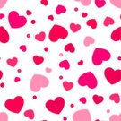 Valentine's Day - Holiday,Love,Wrapping Paper,Cute,White Background,Red,Heart Shape,seamless pattern,repeat pattern,Pink Color,Vector