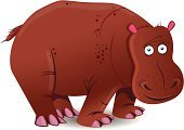 Herbivorous,Cartoon,Computer Graphic,cartoonish,Ilustration,Africa,Animal Mouth,Animal,Vector,Animal Skin,Large,Animals In The Wild,Cute,Design,Hippopotamus,Tail