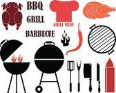 Barbecue Grill,Camping,Barbecue,Grilled,Mayonnaise,Kitchen Utensil,Isolated,Set,Kitchen Knife,Symbol,Axe Grooming Products,Design Element,Old-fashioned,Scarcity,Exoticism,Bizarre,Chili Pepper,Fire - Natural Phenomenon,Cap,Sign,Pepper,Food,Poultry,Livestock,Meat,White Meat,Chicken - Bird,Vector,Black Color,Bird,Shovel,Table Knife,Fork,Collection