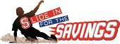 Cut Out,sports attire,Sliding,Baseball Player,Sport,One Person,People