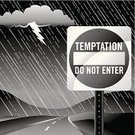 Rain,Lightning,Vanishing Point,Sign,Road Sign,Temptation,Rural Scene,Hill,Toned Image,Do Not Enter Sign,No People,Night,Religion,Street,Highway,Storm Cloud,Weather,Outdoors,Raindrop,Part Of