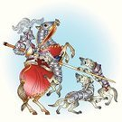 Knight,Horse,Dog,Suit of Armor,Body Armor,Warrior,Storytelling,Shield,Ilustration,Fairy Tale,Defeat,Vector,Defending,Picture Book,Conflict,Attached,Victim,White Background,Shielding,History,Intricacy,Colors,Weapon,Protection,Military,Metal,Bodyguard,Color Image,Sketch