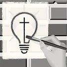 Religion,Part Of,Toned Image,Graffiti,Creativity,Paintbrush,Social Issues,One Person,Light Bulb,People