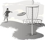 Disc Golf,Plastic Disc,Lifestyles,Fun,Throwing,Candid,Skill,Basket,Recreational Pursuit,Day,One Person,People,Men,Adult,Outdoors,Outdoor Pursuit