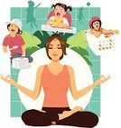 Meditating,Mother,Little Boys,Parent,Adult,Daughter,Son,One Person With Others,Sound,High Chair,Crying,People,Sister,Women,Brown Hair,Furniture,Rudeness,Chaos,Childhood,Laundry Basket,Shouting,Yoga,Relaxation,Thinking,Eyes Closed,Sibling