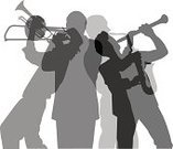 Trombone,Trumpet,Musician,Clarinet,Wind Instrument,Performer,Saxophone,Part Of,Composite Image,Cut Out,Toned Image,People,Small Group Of People,Brass Instrument,Three Quarter Length