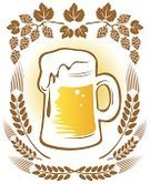 Beer Glass,Hop,Drink,Alcohol,Ilustration,Mug,Drawing - Art Product,Digitally Generated Image,White,Beer - Alcohol,Floral Pattern,Frothy Drink,Brown,Yellow,Image,Computer Graphic,Ideas,Concepts,Stout,Art,Creativity,Cold - Termperature