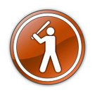 Label,Sport,Sign,Photography,Symbol,Hitting,Illustration,Square,Batting,Inning,Push Button