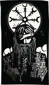 Viking,God,norse,God,Wotan,Norway,Mythology,odin,Sweden,Woodcut,King,Scandinavian,Paganism,Crow,Celtic Culture,asgard,Spear,Celtic Style,Tribal Chief,Father,Death,Iceland
