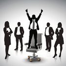 Business Meeting,Teamwork,Celebration,Leadership,Businessman,Businesswoman,Men,Business Person,Competition,Chair,Hand Raised,Finance,Solution,Business,Vector,Team,First Place,Arms Raised,Togetherness,Reflection,Success,Ilustration,Shadow,Growth