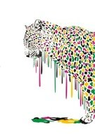 Leopard,Vector,Isolated,Painted Image,Safari Animals,Wildlife,Nature,Animals In The Wild,Colors,Abstract,Animal,Camouflage Clothing,Melting