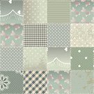 Pattern,Backgrounds,Textile,Repetition,Seamless,Seam,Vector,Backdrop,Textured Effect,1940-1980 Retro-Styled Imagery,Fashion,Grunge,Stitch,Continuity,Green Color,Curve,Old-fashioned,Sewing,shabby chic,Elegance,Old,Rose - Flower,Wallpaper Pattern,Lace - Textile,Patchwork,Quilt,Square Shape