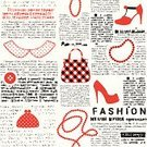 Wallpaper Pattern,Red,Square Shape,Curve,Continuity,Newspaper,Paper,Personal Accessory,Shoe,Fashion,Vector,Seam,Pattern,Bag,Bead,Backgrounds,Backdrop,Seamless,Repetition,Textured Effect