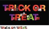 Ilustration,Candy,Halloween,Characters,Cartoon,Vector,Text,White Background,Magic Trick,Stunt,Trick Or Treat,Black Background,Alphabet