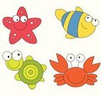 Baby,Beach,Cartoon,Fish,Symbol,Computer Icon,Humor,Fun,Print,Design,Spotted,Ilustration,Nature,Vector,Outline,Wildlife,Life,Set,Computer Graphic,Striped,Toy,Cute,Turtle,Color Image,Star Shape,Sea,Colors,Crab,Exoticism,Tropical Climate,Animals In The Wild,Whale,Aquatic,Four Animals,Animal Eye,Red,Characters,Simplicity,Drawing - Art Product,Aquarium,Pinching,Animal,Childishness,Smiley Face,Smiling,Watching