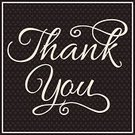 Thank You,Single Word,Text,Colors,Handwriting,Greeting,Decoration,Pattern,Frame,Typescript,Emotion,Touching,Design