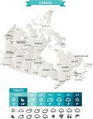 Weather Map,Canada,Map,Cartography,Meteorology,Computer Icon,Icon Set,Weather