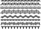Kazakhstan,East Asia,Decoration,Elegance,Computer Graphic,Pattern,Horizontal,Cultures,Collection,Ornate,filigree,Decor,Curb,Backgrounds,Ilustration,Central Asia,Curled Up,Swirl,Gift,Vector
