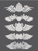 Military,Seal - Stamp,Wing,Grunge,Sign,Candid,Coat Of Arms,Wing,Development,Ilustration,Success,Artificial,Drawing - Art Product,Stencil,Gray,Old-fashioned,Postage Stamp,Art,Retro Revival,Award,Set,Flying,premium,Decoration,Freedom,Elegance,Badge,Design,Symbol,Pattern,Pencil Drawing,Style,Art Product,Insignia,Vector,Cultures,Majestic,Collection,Label