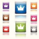 Crown,Vector,Orange Color,Computer Icon,Success,Honor,Green Color,Shiny,Symbol,Competition,Championship,Trophy,Purple,Winning,World Title,Blue,Ilustration,Group of Objects,Computer Graphic,Digitally Generated Image,Sparse,Isolated,Design,Set,Interface Icons,Design Element