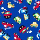 Cute,Tugboat,Vector,Transportation,Truck,Car,Nautical Vessel,seamless pattern,repeat pattern,Blue Background,Steam Train,Land Vehicle,Train,Van - Vehicle,Bus,Fire Engine